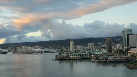Oahu-Honolulu-Aloha-Tower-Late-Evening