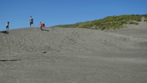 Oregon-Fort-Stevens-Playing-On-Dunes-Mov-