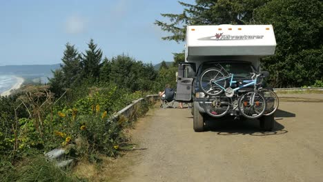 Oregon-Camper-With-Bikes-Cape-Lookout