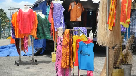 Samoa-Colorful-Clothes-In-Market