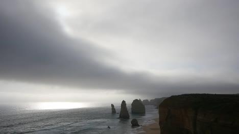 Australia-Great-Ocean-Road-12-Apostles-Weak-Sun-Low-Cloud