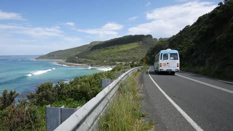 Australia-Great-Ocean-Road-Coast-Scene-With-Bus