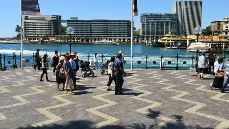 Australia-Sydney-People-Walking-By-Water