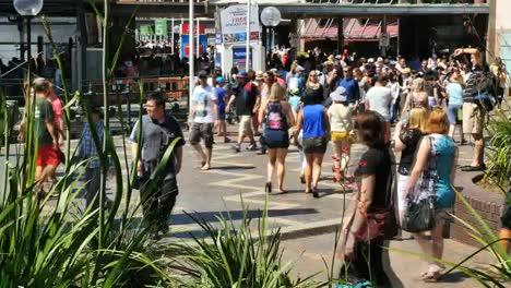 Australien-Sydney-Menschenmenge-Zu-Fuß-Zeitraffer