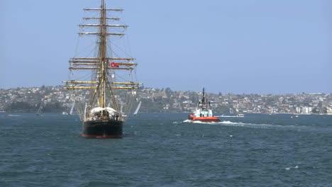 Australien-Sydney-Harbour-Großsegler