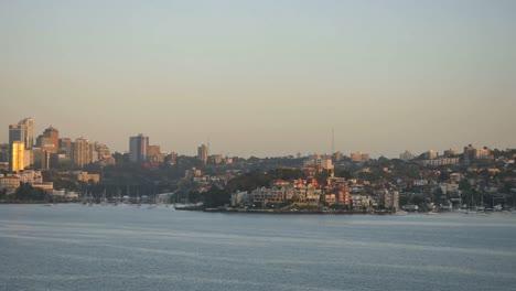 Australia-Sydney-Passing-Suburb-Early-Morning-Time-Lapse
