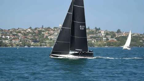 Australia-Sydney-Sailboat-With-Black-Sail