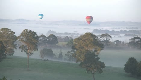 Australia-Yarra-Valley-Two-Balloons-Early-Morning