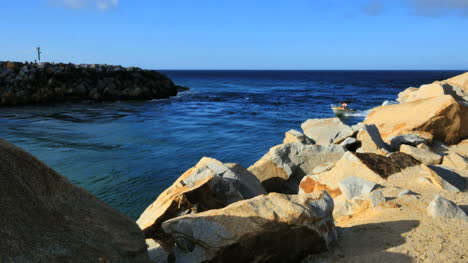 Australia-Boat-Crosses-Bar-At-Narooma