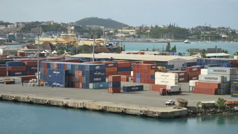 New-Caledonia-Noumea-Docks-With-Containers
