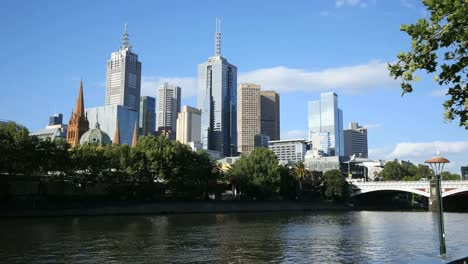 Australia-Melbourne-Yarra-River-And-City-Skyscrapers