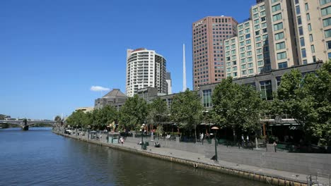Australia-Melbourne-Yarra-River-Cafes-And-Shops-On-South-Bank