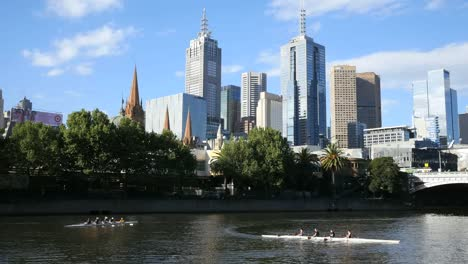 Australia-Melbourne-Yarra-River-With-Crew