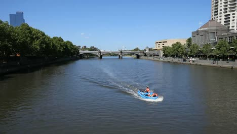 Australia-Melbourne-Boat-Motoring-On-Yarra-River