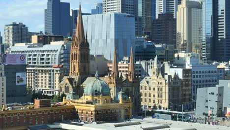 Australia-Melbourne-Churches-From-Above