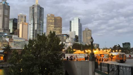 Australia-Melbourne-City-View-With-Cafe