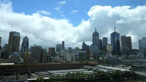 Australia-Melbourne-Skyline-And-Clouds-Looming-Above