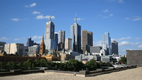 Australia-Melbourne-Skyline-Viewed-From-Hotel