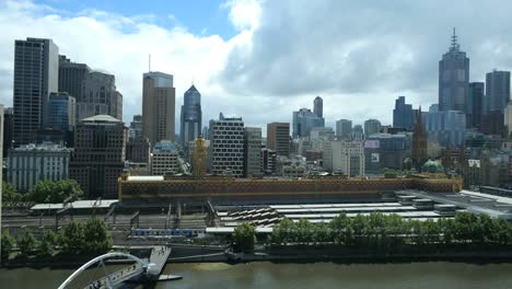 Australia-Melbourne-Skyline-With-Clouds
