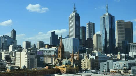 Australia-Melbourne-Skyscrapers-And-Blue-Sky
