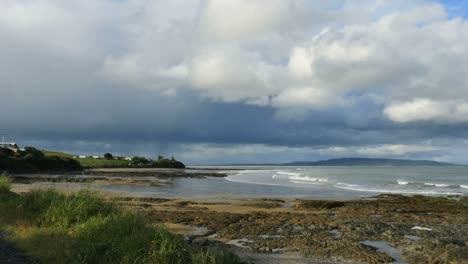 New-Zealand-Kaka-Point-Looming-Clouds-Over-Sea