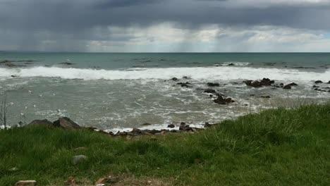 New-Zealand-Kaka-Point-Rain-Over-Sea-Mov