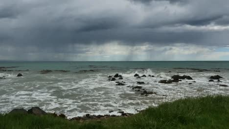 New-Zealand-Kaka-Point-Rain-Waves-And-Rocks-Mov
