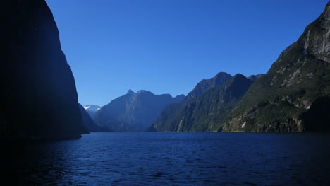 New-Zealand-Milford-Sound-Distant-Waterfall