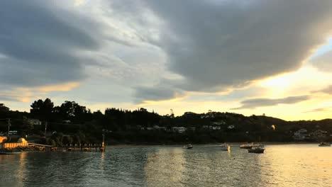New-Zealand-Moeraki-Boats-In-Bay-Under-Clouds