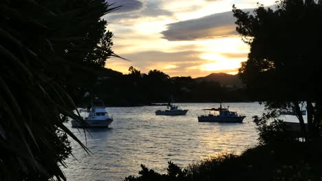 New-Zealand-Moeraki-Boats-In-Late-Evening