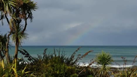 New-Zealand-Faint-Rainbow-At-Kaka-Point-Mov