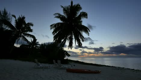 Aitutaki-Palm-After-Sunset-And-Beach