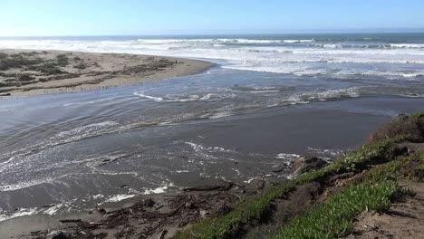 California-Salmon-Creek-Tidal-Bore-At-River-Mouth