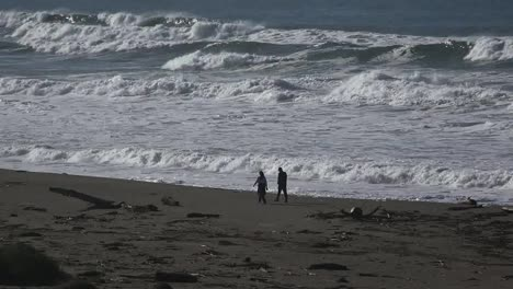 California-Salmon-Creek-Olas-Y-Gente-En-La-Playa