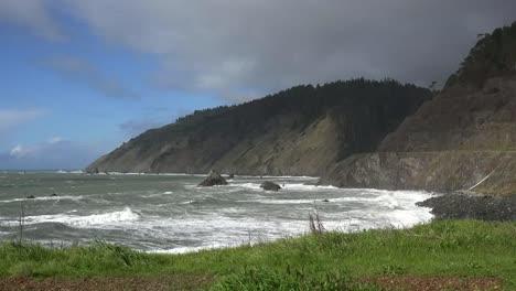 California-Coast-And-Mountains-Along-Shoreline-Highway-Mendocino-County
