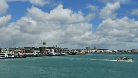 New-Zealand-Auckland-Bay-View-With-Boat