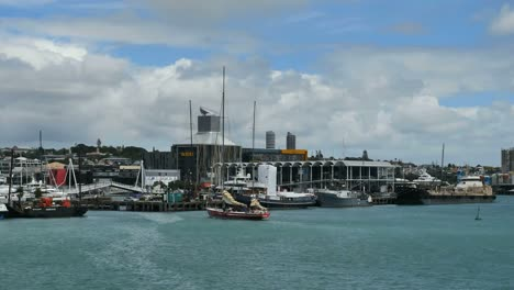 New-Zealand-Auckland-Sailboat-Sails-Down