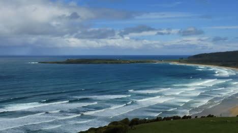 New-Zealand-Catlins-Tautuku-Curved-Bay-View-Pan
