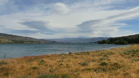 New-Zealand-Lake-Dunstan-And-Grass