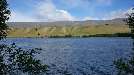 New-Zealand-Lake-Dunstan-Tree-Framed-Moraine