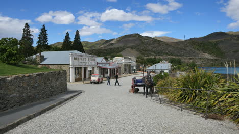 New-Zealand-Old-Cromwell-Town-Overview-In-Sun