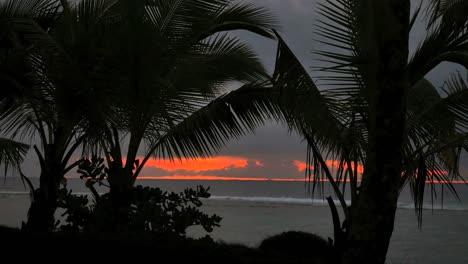Rarotonga-Red-After-Sunset