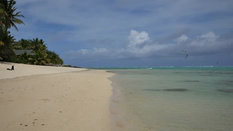Rarotonga-Windsurfer-In-Lagoon