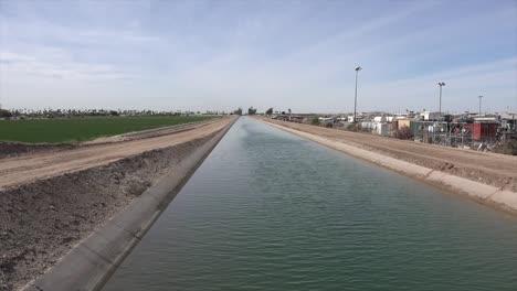 Arizona-Irrigation-Canal-At-Yuma