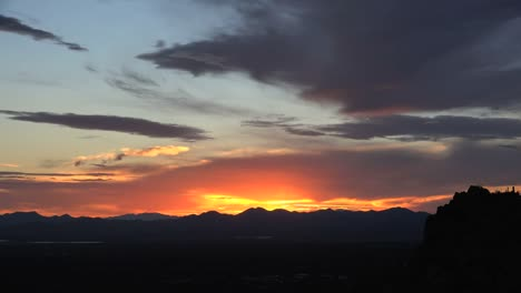 Arizona-Sunset-View-After-Sun-Sinks-Behind-Hills