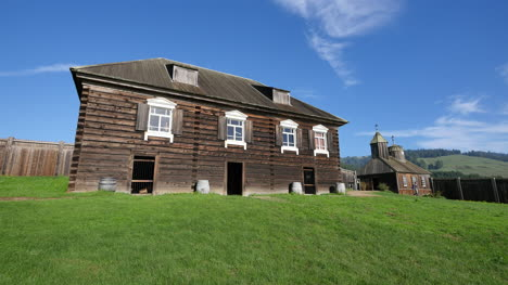 California-Fort-Ross-Russian-Fur-Trading-Building-And-Church