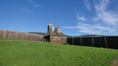 California-Fort-Ross-Russian-Fur-Trading-Post-Church-And-Stockade