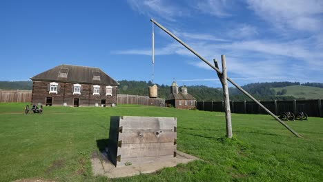 California-Fort-Ross-Russian-Fur-Trading-Post-Well-And-Church