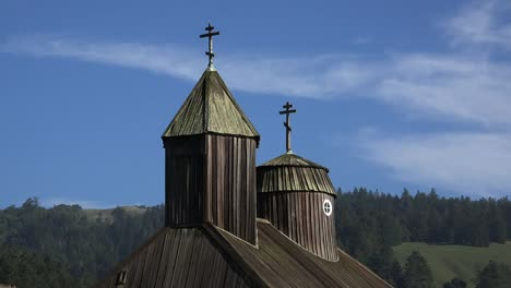 California-Fort-Ross-Church-Steeple-And-Vultures