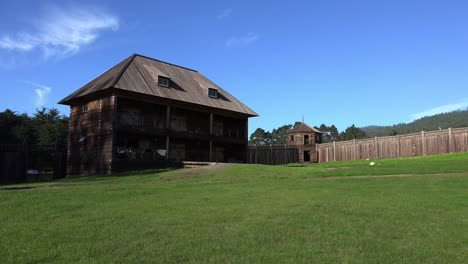 California-Fort-Ross-Stockade-And-The-Old-Magasin-Or-Warehouse